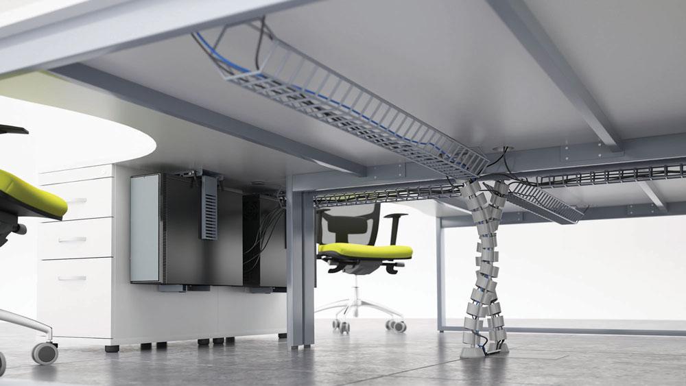 Desk Cable Management Creating Safe