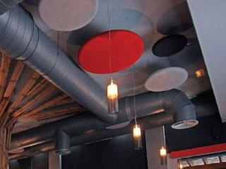 Acoustic ceiling foam tiles