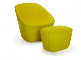 Breakout chairs and pouffe