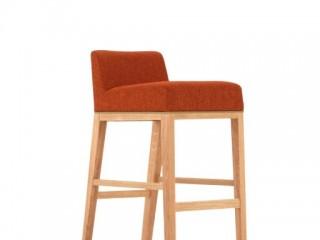 Upholsterd low back high stool