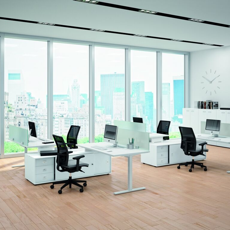 Matrix Idea Tube and Jet Free Standing Desks | Ergonomic