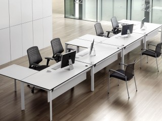 Stylish Bench Desk Systems at a great price. Comes with 10 year warranty. A great value desk for office fit outs. The perfect bench desk system for new offices